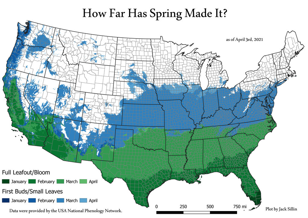 How Far Has Spring Made It?